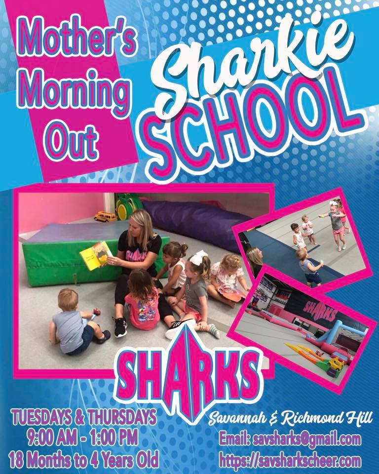savannah sharks mother's morning out childcare preschool