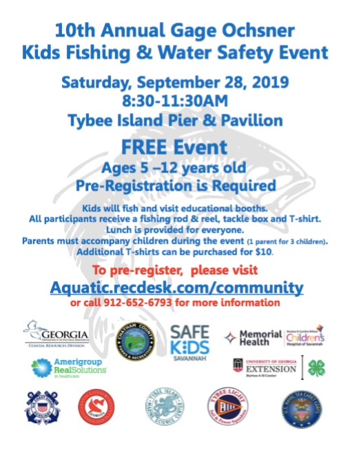 Free fishing event Tybee Savannah 2019