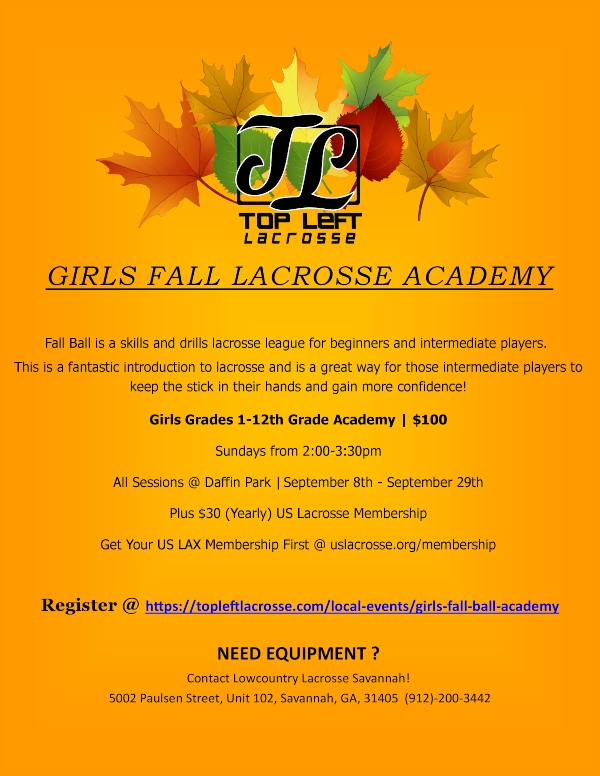 Savannah Girls Lacrosse Fall Ball 2019