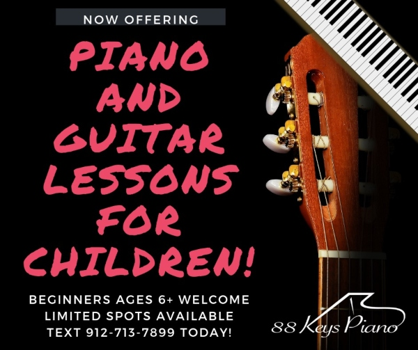 piano guitar lessons Savannah Pooler
