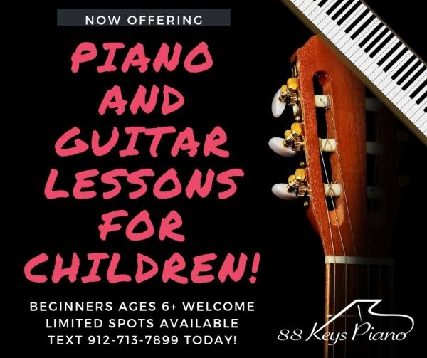 piano guitar lessons Savannah Pooler