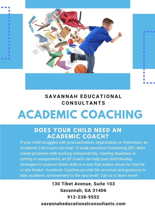 Academic Coaching Savannah educational consultants tutoring