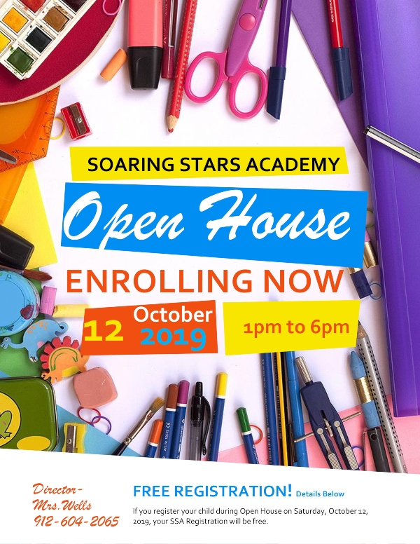Open House Soaring Stars Academy Savannah daycare preschool childcare Chatham County