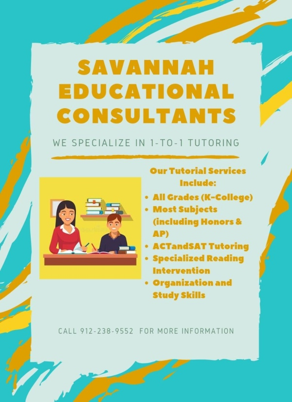 Savannah Educational Consultants tutoring college counseling autism homeschool