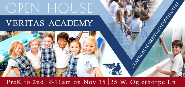 Veritas Academy Savannah schools open houses Fall 2019 Chatham County private