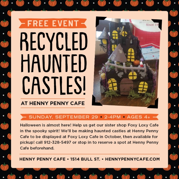 Haunted Castles Henny Penny Savannah kids cafe art halloween