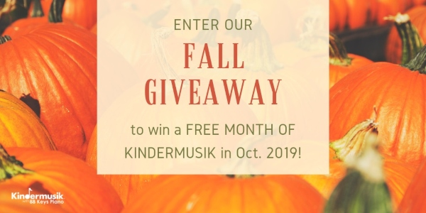 Kindermusik Savannah fall giveaway toddlers kids Chatham County