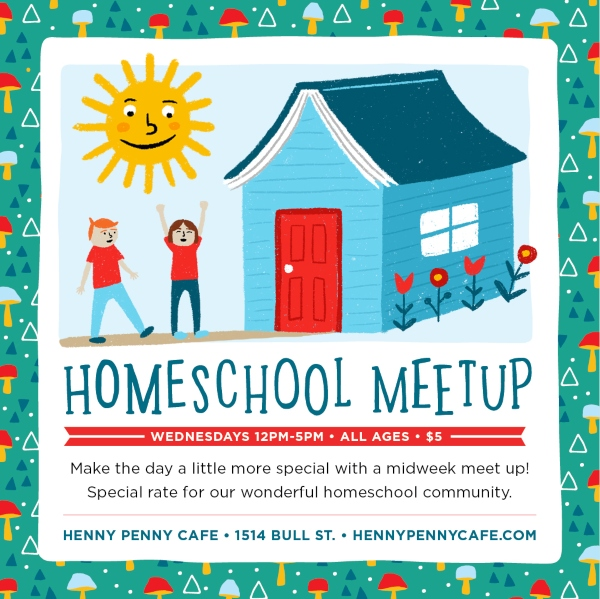 Homeschool Meetup Henny Penny Art Cafe Scribble Savannah homeschoolers