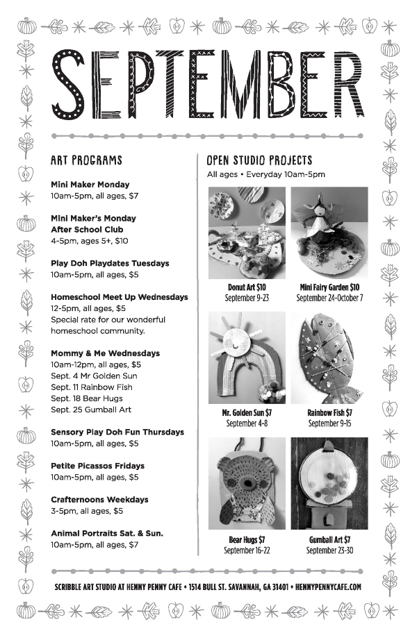 Henny Penny Art Cafe Savannah kids toddlers classes crafts