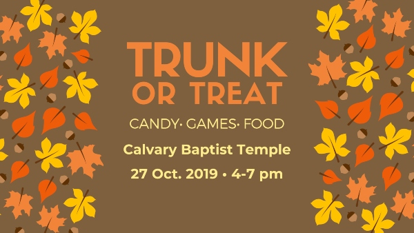 Trunk or Treat Savannah Calvary Baptist Halloween 2019