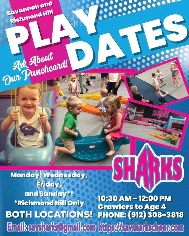 playdate sharks savannah gym