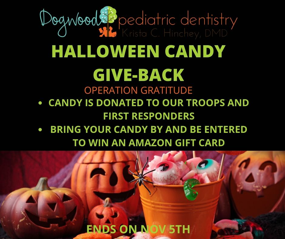 Halloween Candy Give-back Savannah Dogwood Pediatric Dentistry