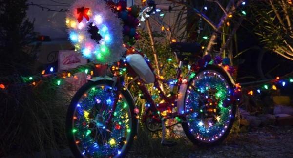 Tybee Tour de lights bike parade 2019 holidays christmas