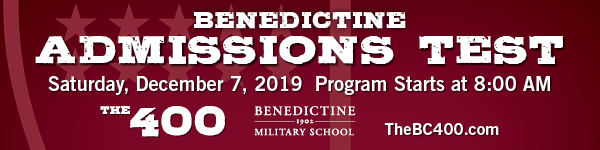 Benedictine Military School test admissions 2019