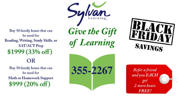 Sylvan Gift of Learning Savannah tutoring black friday deals 2019