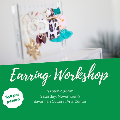Earring Workshop Savannah Cultural Arts youth