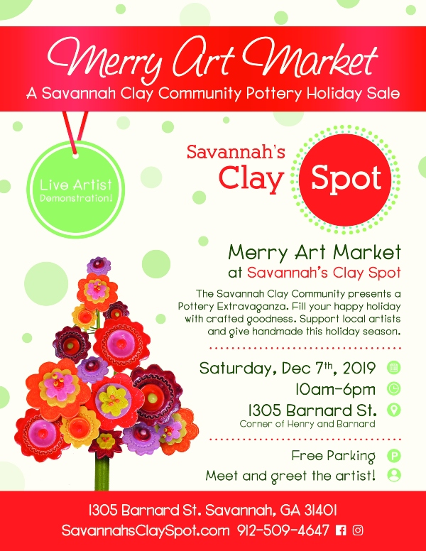 Savannah's Clay Spot Merry market holidays