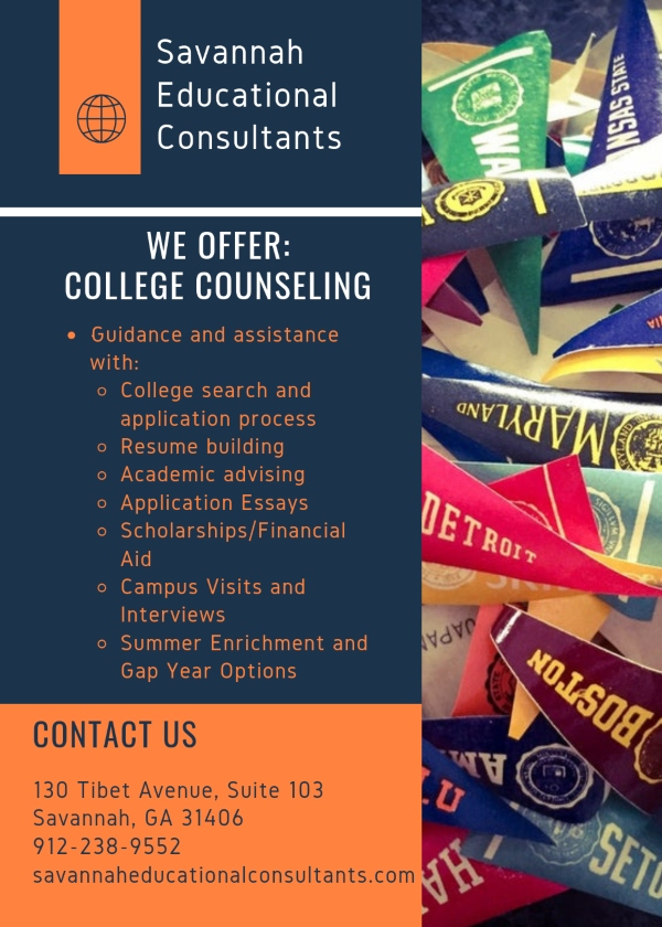 Savannah Educational Consultants college tutoring SAT PSAT