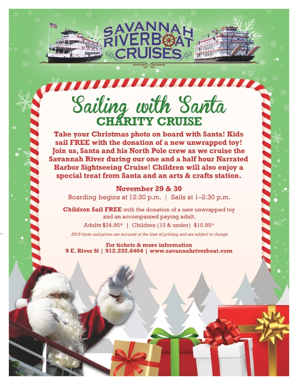 Sailing with Santa Riverboat Savannah 2019 Christmas Holidays
