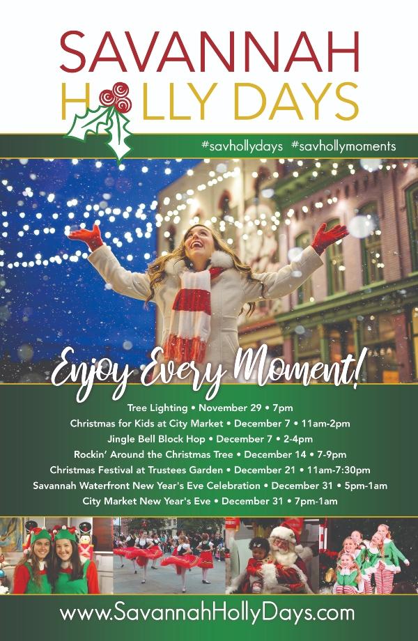 Savannah Holly Days Holidays 2019 Christmas events kids family