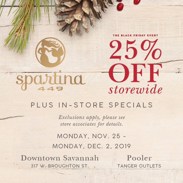 spartina savannah hilton head pooler discount code