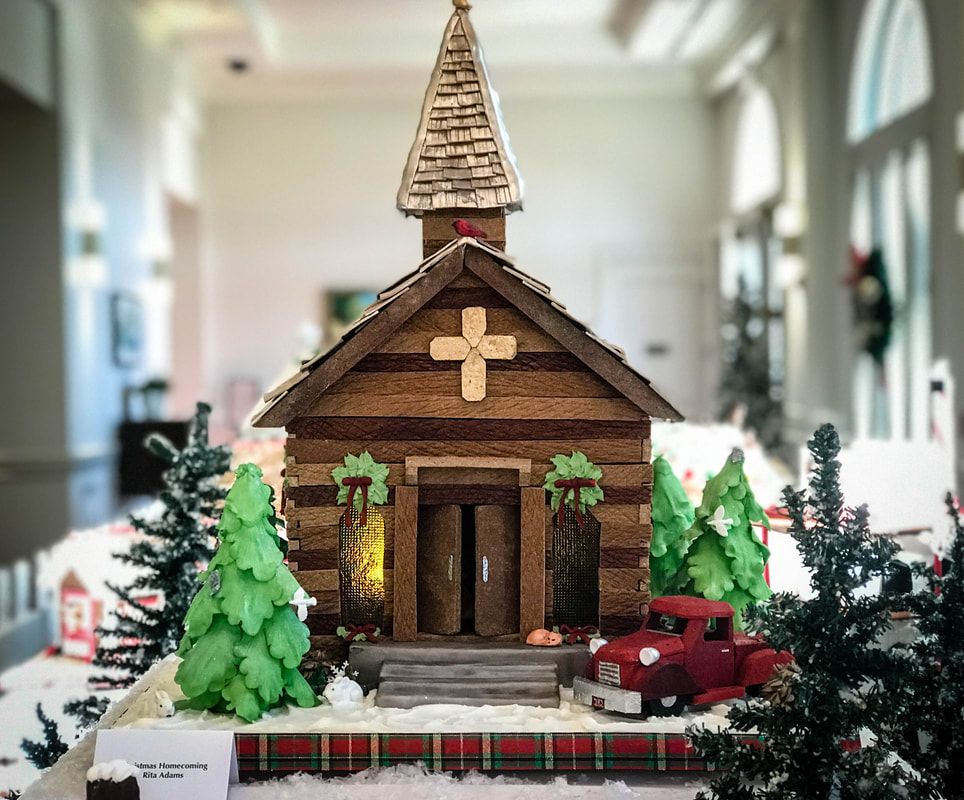 Gingerbread village display Savannah Westin Christmas Holidays 2019
