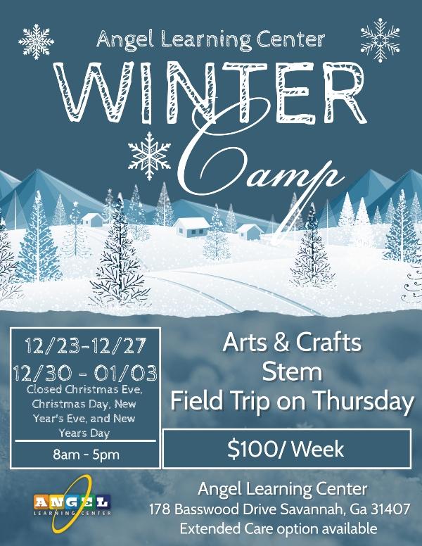 Savannah winter holiday camps 2019