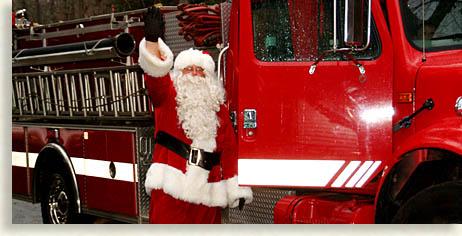 Santa Firetruck Savannah Southside Fire