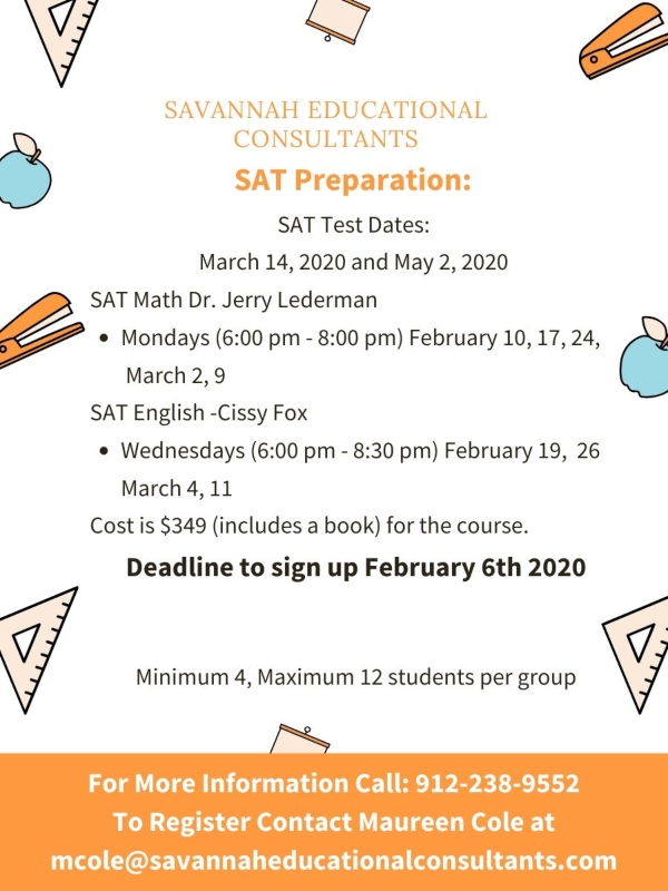 SAT preparation Savannah Education Consultants