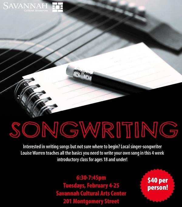 songwriting savannah class cultural arts center