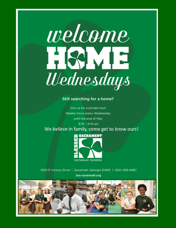 Welcome Home Wednesdays Blessed Sacrament Savannah