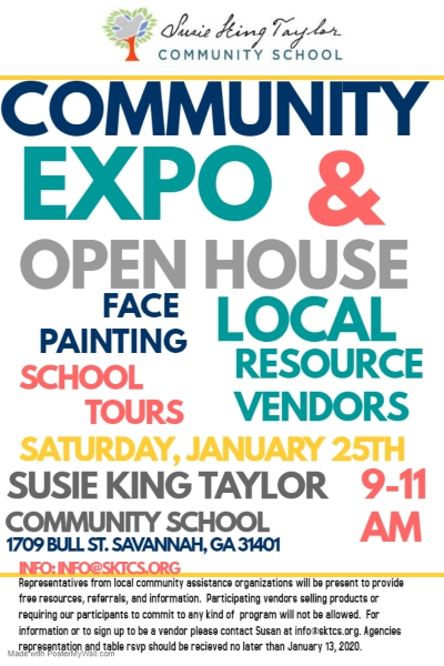 Susie King Taylor Charter School Savannah Open House 2020