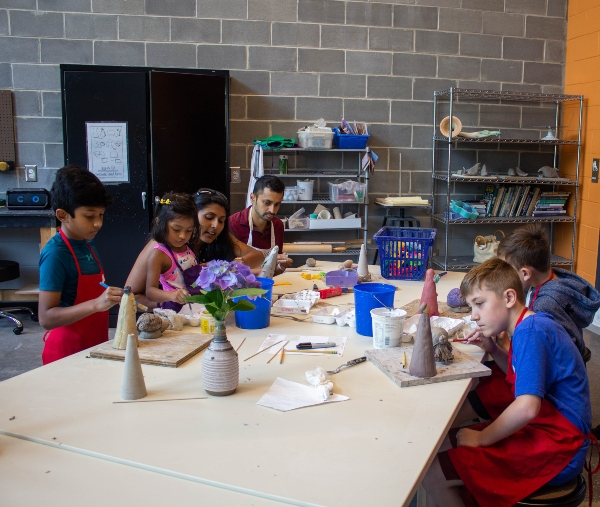 Free ceramics class clay Savannah Cultural Arts Center kids