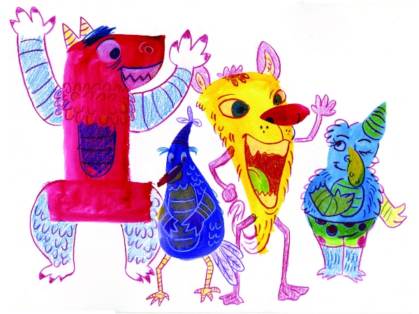 watercolor illustration Savannah Cultural Affairs Center art kids