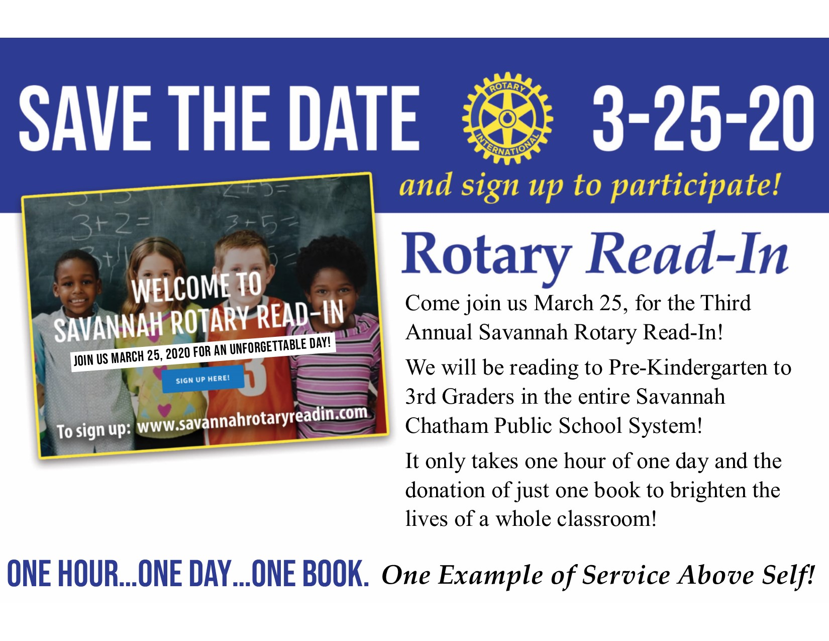 Savannah Rotary Read-In 2020