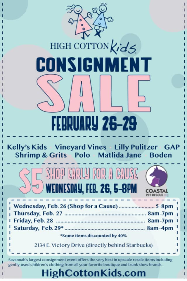 High Cotton Kids Consignment Sale Savannah