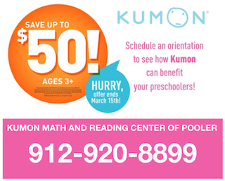 Kumon Pooler tutoring math Savannah kids
