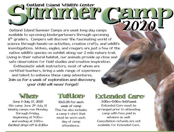 Summer Camp Savannah Oatland Island 2020