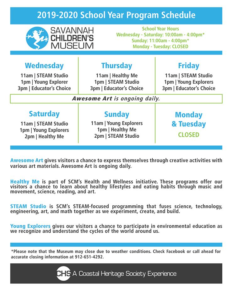 Savannah Children's Museum daily programming