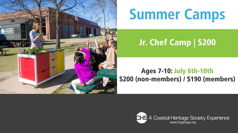 Savannah Summer Camps Coastal Heritage Society Jr. Chef cooking camps 2020