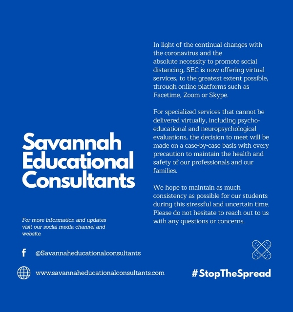 Savannah Educational Consultants tutoring online virtual