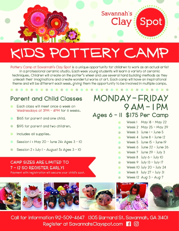 Savannah Clay Spot 2020 Pottery Summer Camp