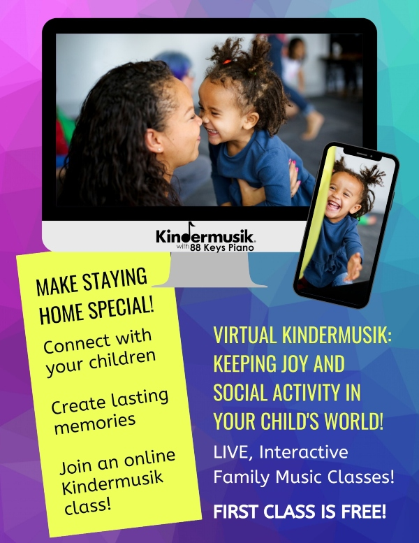 Kindermusik Savannah online classes virtual Chatham County