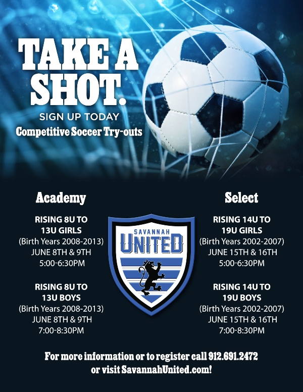 Savannah United Tryouts Soccer Pooler RIchmond Hill youth