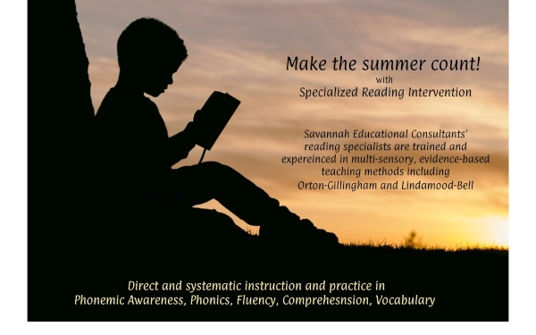 Summer tutoring Savannah Educational Consultants