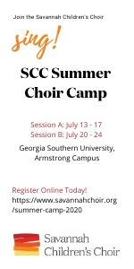 Savannah Children's Choir Summer Camp 2020
