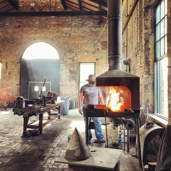 Coastal Heritage Society blacksmithing demos