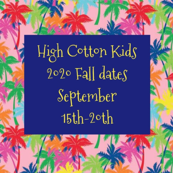 High Cotton Kids Consignment Sale Fall Savannah Pooler 2020