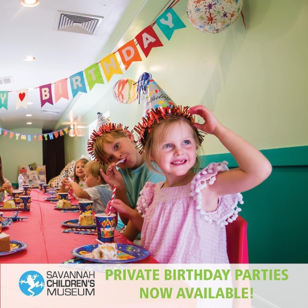 outdoor birthday parties Savannah Children's Museum
