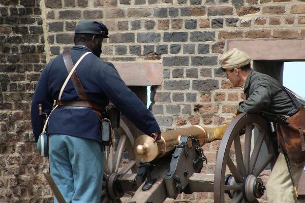 Old Fort Jackson Savannah cannon firings